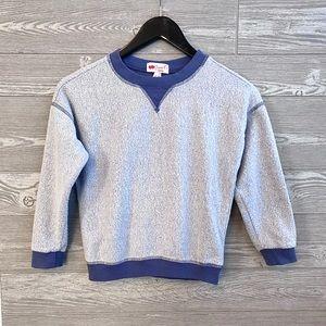 Inside-out crewneck sweatshirt size S